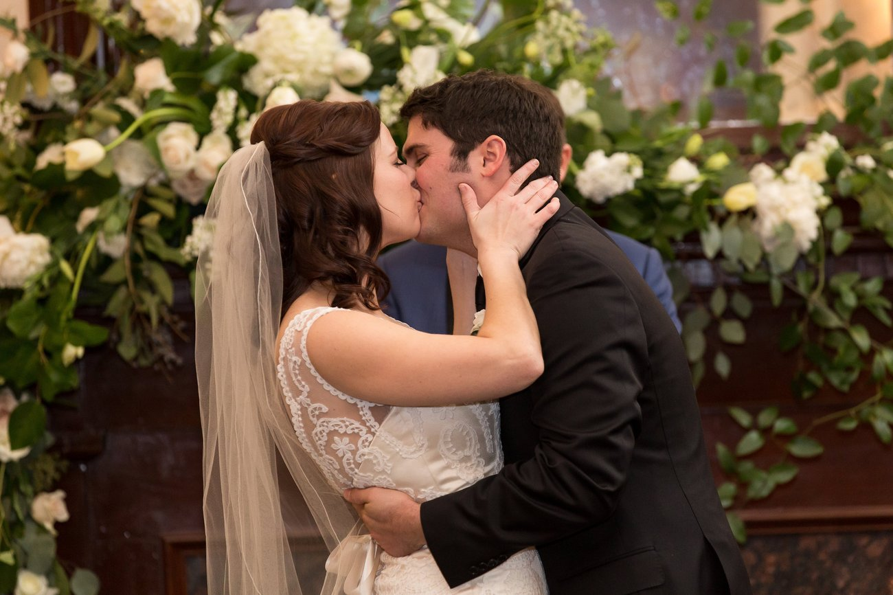 Durr Pollock Wedding Ceremony Kiss