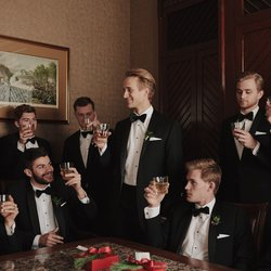 The Driskill Wedding Groomsmen