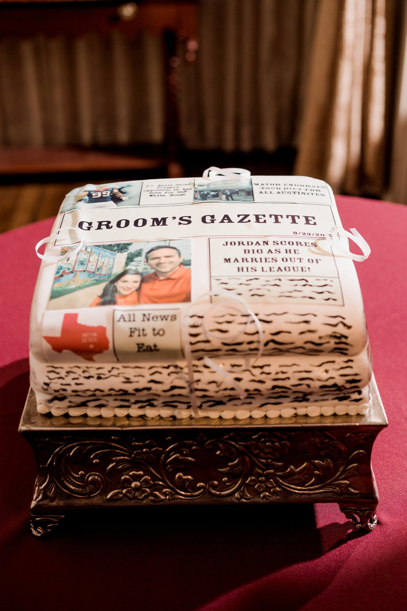 The Driskill Austin Wedding Cake